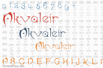 Akvaleir Font