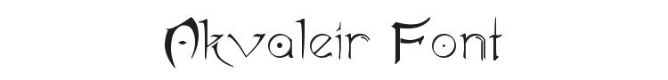 Akvaleir Font Preview