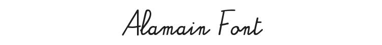 Alamain Font