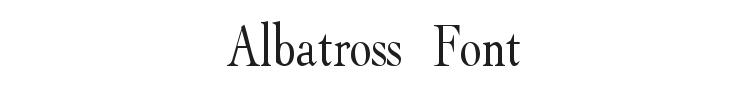 Albatross Font Preview