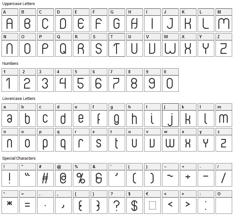 Albertino Font Character Map
