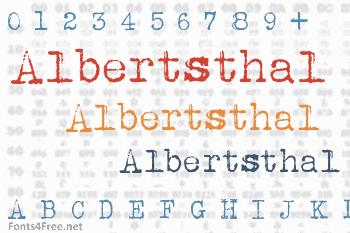 Albertsthal Typewriter Font