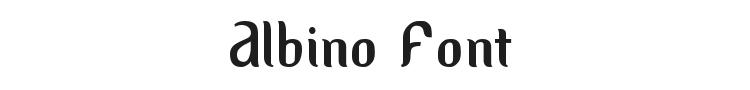 Albino Font Preview