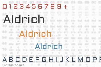 Aldrich Font
