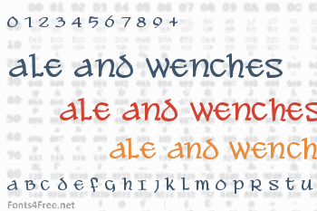 Ale and Wenches Font