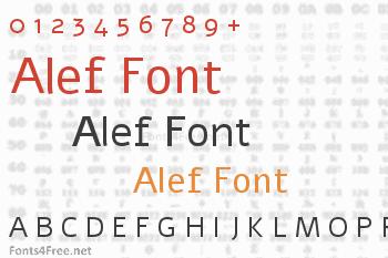 Alef Font