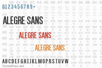 Alegre Sans Font