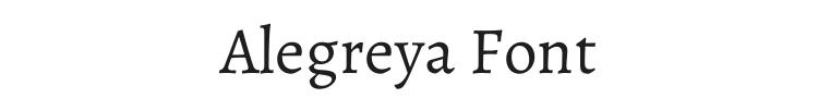 Alegreya Font Preview