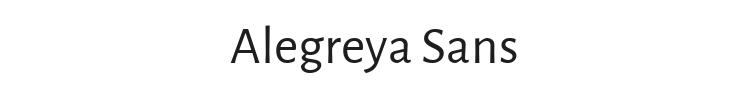 Alegreya Sans Font Preview