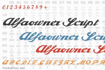 Alfaowner Script Font