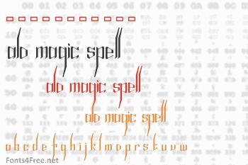 Alfheim Online Magic Spell Font
