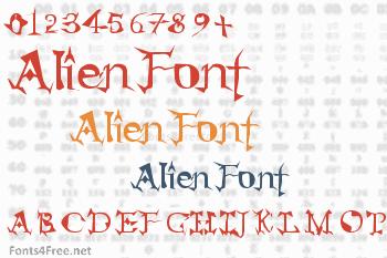Alien Font