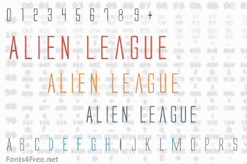Alien League Font