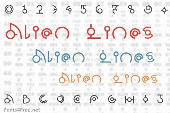 Alien Lines Font