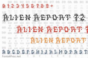 Alien Report 72 Font