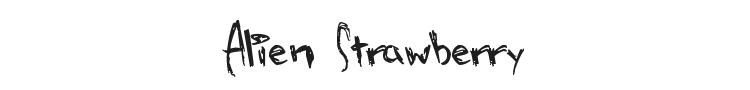 Alien Strawberry Font Preview