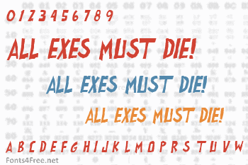 All exes must die! Font