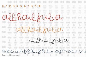 All Hail Julia Font