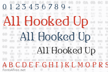 All Hooked Up Font