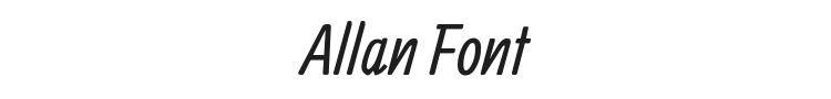 Allan Font Preview