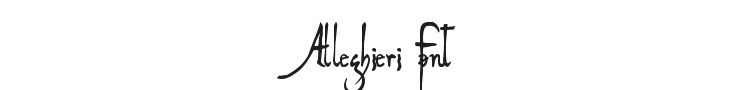 Alleghieri Font Preview