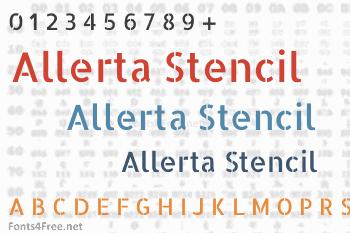 Allerta Stencil Font