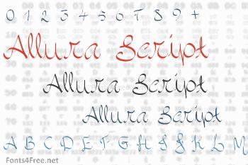Allura Script Font