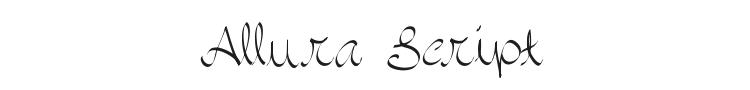 Allura Script Font Preview