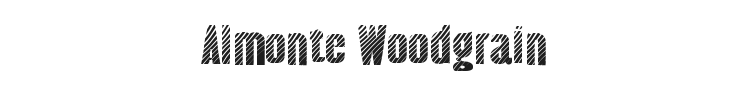 Almonte Woodgrain Font Preview