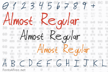 Almost Regular Font
