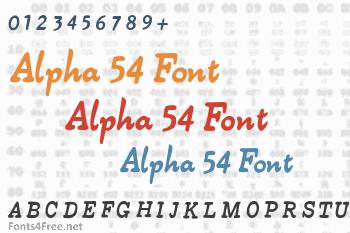Alpha 54 Font