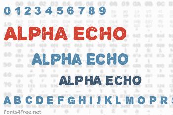 Alpha Echo Font