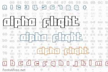 Alpha Flight Font