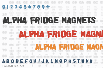 Alpha Fridge Magnets Font