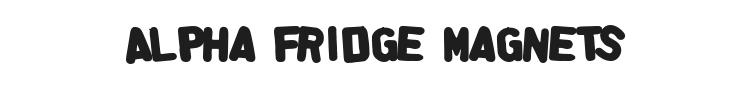 Alpha Fridge Magnets Font