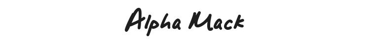 Alpha Mack Font