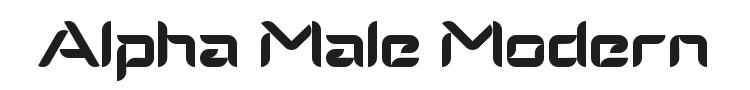 Alpha Male Modern Font Preview