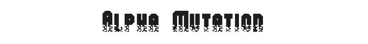 Alpha Mutation Font