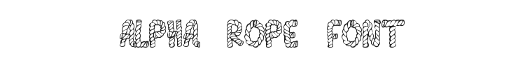 Alpha Rope Font Preview