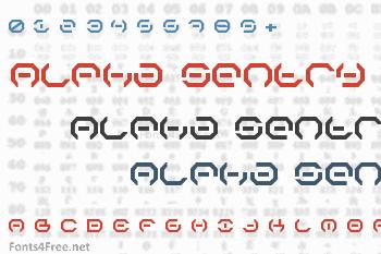 Alpha Sentry Font