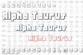 Alpha Taurus Font