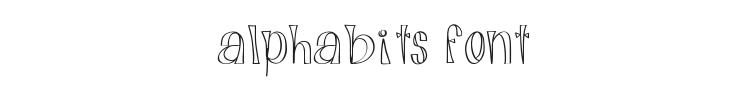 Alphabits Font Preview