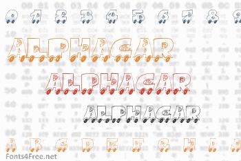 AlphaCar Font