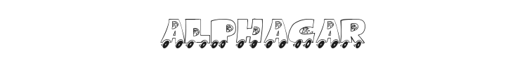 AlphaCar Font Preview