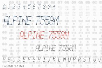 Alpine 7558M Font
