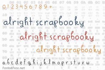 Alright Scrapbooky Font