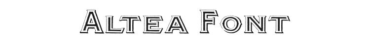 Altea Font Preview