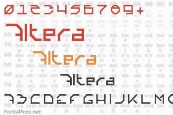 Altera Font