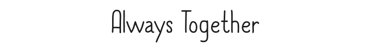 Always Together Font Preview
