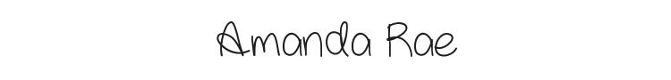 Amanda Rae Font Preview
